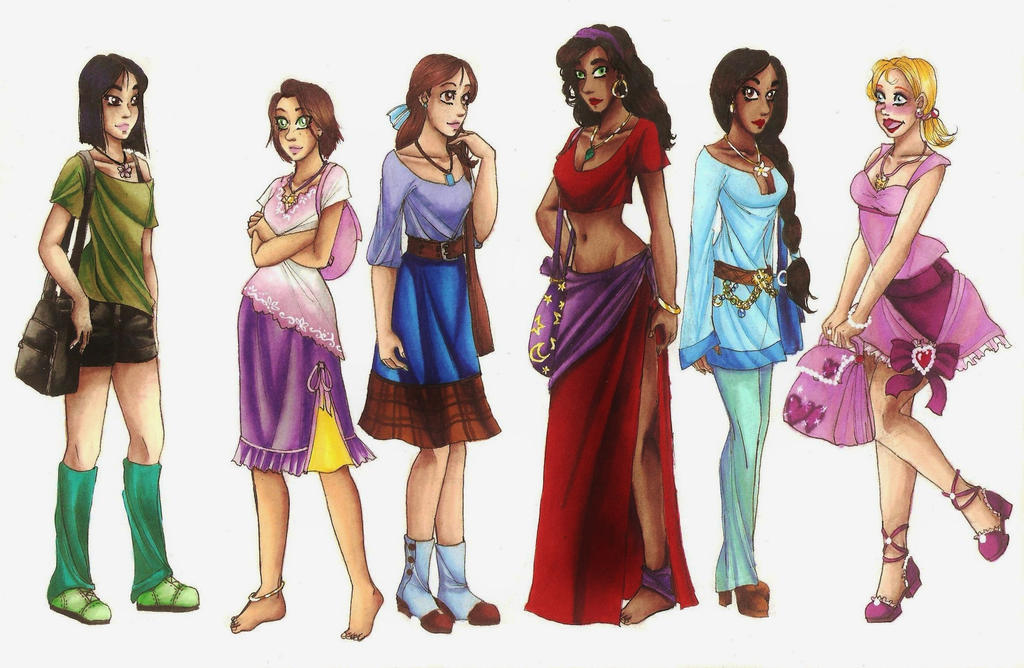 Modern Disney Girls by CarmenFoolHeart on DeviantArt