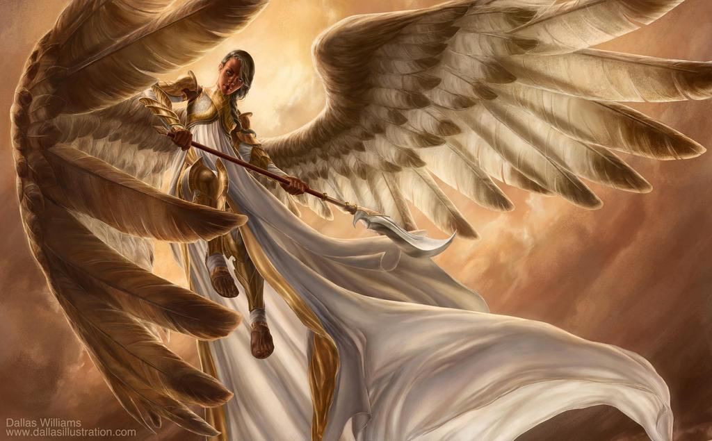Sunlit Angel by Dallas-Williams on DeviantArt