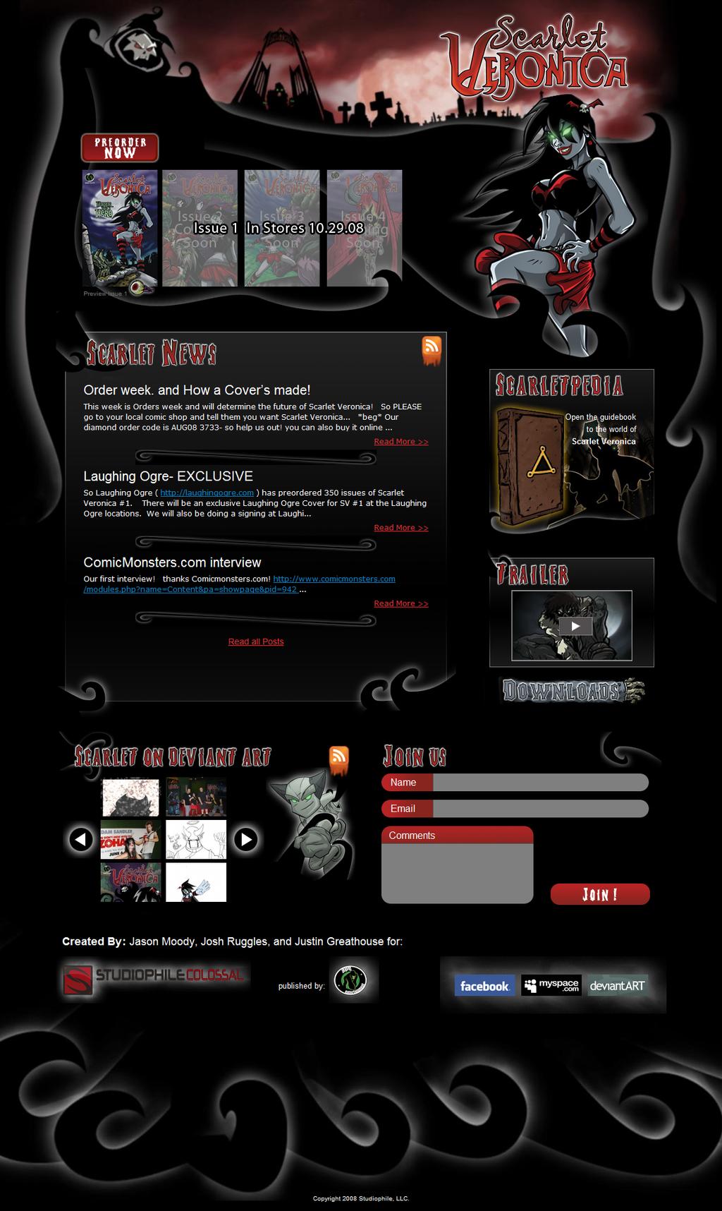 ScarletVeronica.com Redesign by ChadJackson