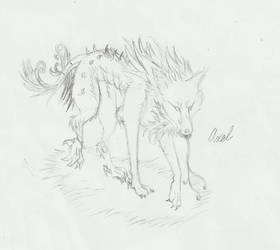 Axel the Wolf Request by QuirkyIceHeart