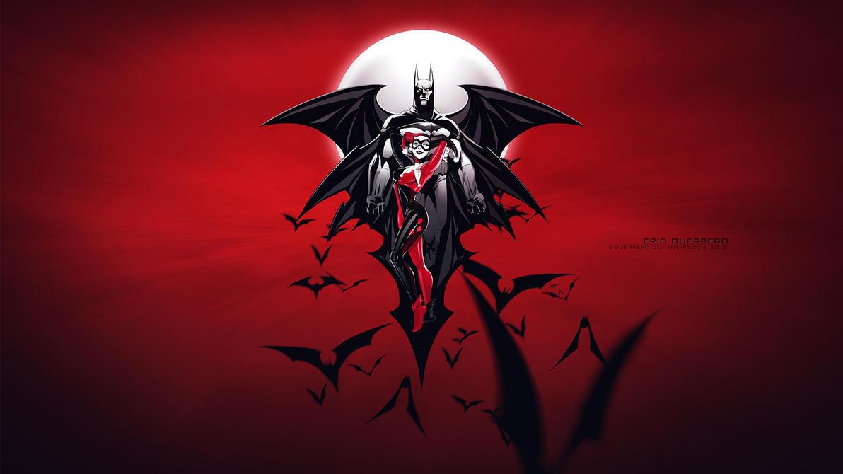 BATMAN HARLEY Wallpaper Red 1920x1080 By E Guerrero