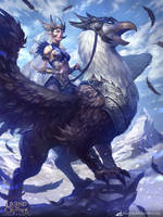 Elf Queen and Holy Griffon