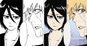 Ichigo And rukia Manga bleach 459