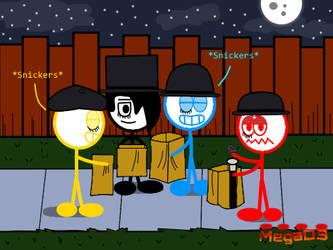 Dude Figures - Happy Stinkin Halloween by MegaD3