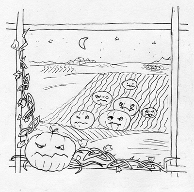 Invasion of Pumpkins by rudwolf