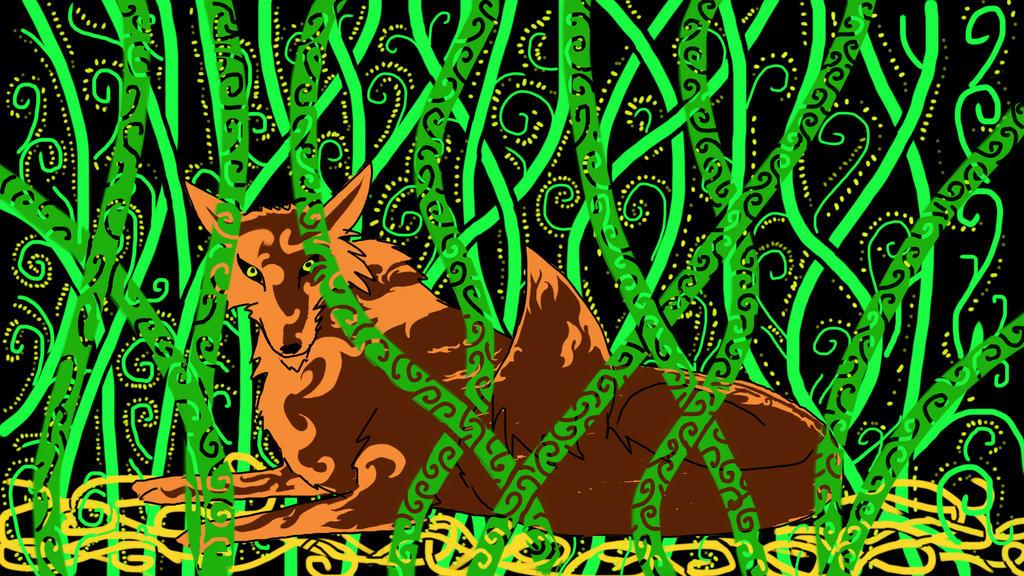 Fox in Foliage by rudwolf