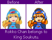 Rokko Book 'Happy face' sprite edit by SureyD