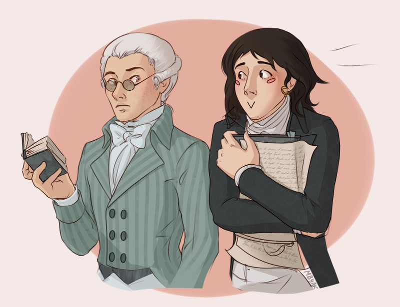 Robespierre | Saint-Just by MByak