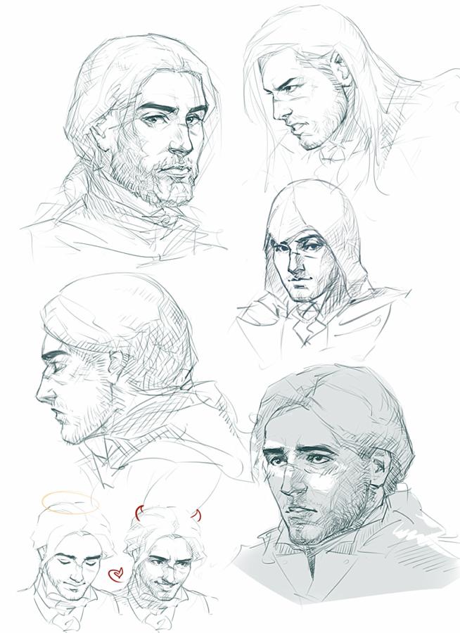 Arno Dorian sketches by MByak