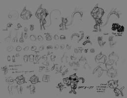 How I draw a robot monkey by Scyrel