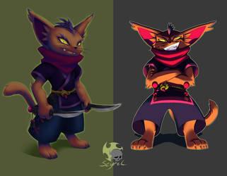 CDC: Ninja Cat by Scyrel