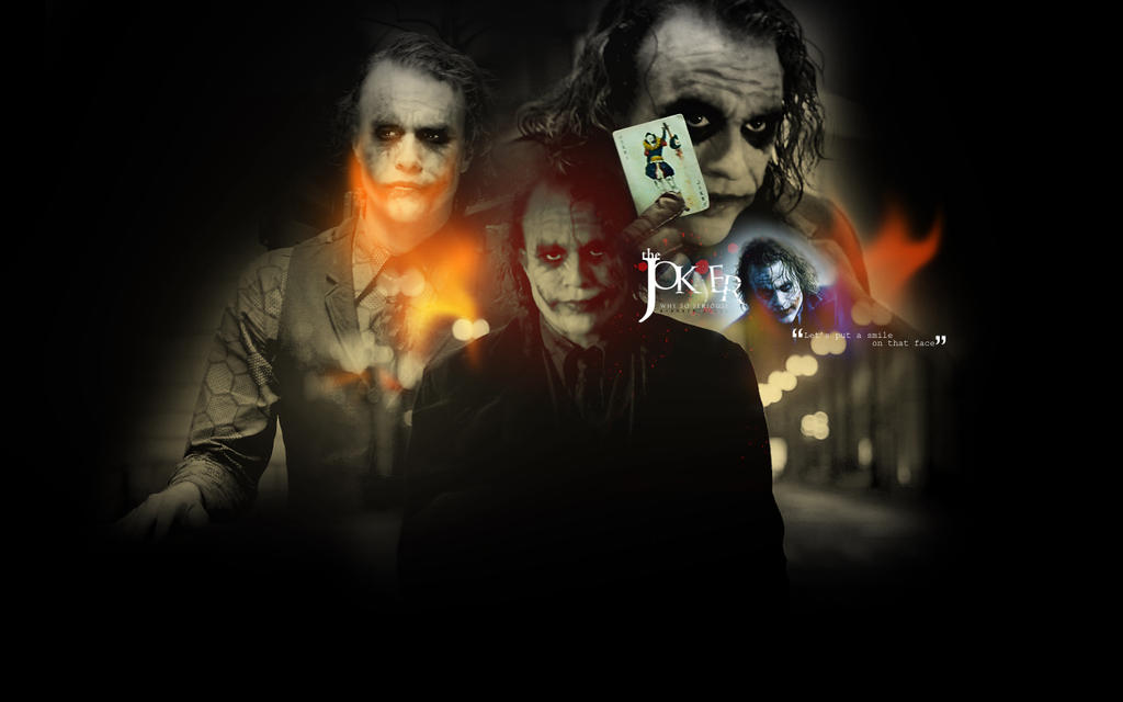 dark knight joker wallpaper. Dark Knight: Joker Wallpaper