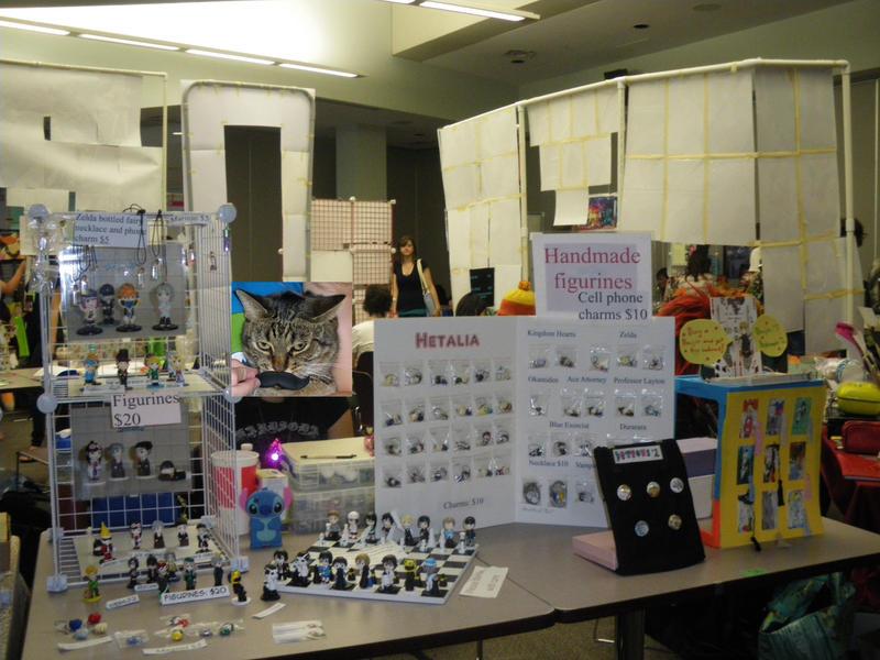 Animethon 19 artist alley table by lysen