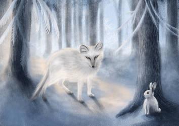 Fox and rabbit by unikatdesign