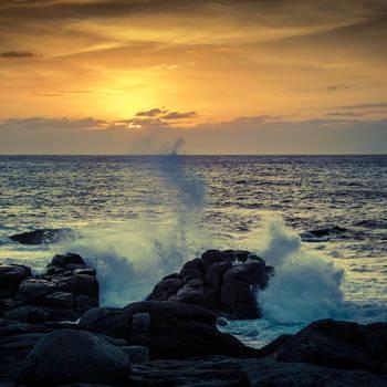 Dramatic sunset by unikatdesign