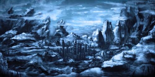 Blaue Berglandschaft by unikatdesign
