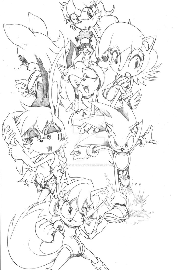Sonic, Sally and the rest. by MrEgaku