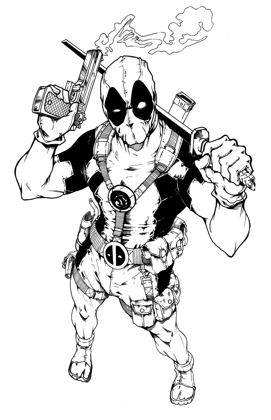Deadpool Tattoo Work By Adambrycethomas On Deviantart
