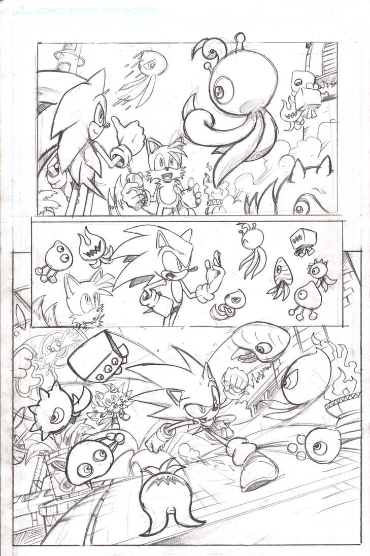 Sonic 219 Colors Adaptation Page 5 by AdamBryceThomas