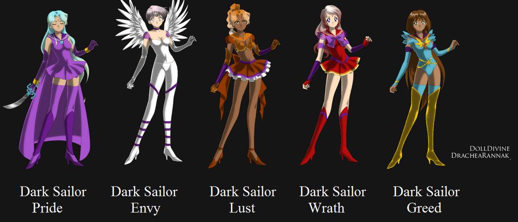 Dark Sailor Scouts by palaptine on DeviantArt