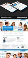 Corporate UI Website Design Layout PSD