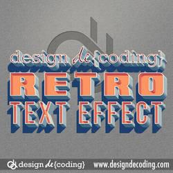 Classic Vintage Retro Text Effect