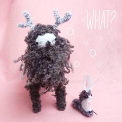 Kawaii Deer Plush Toy and bunny by dod0bob