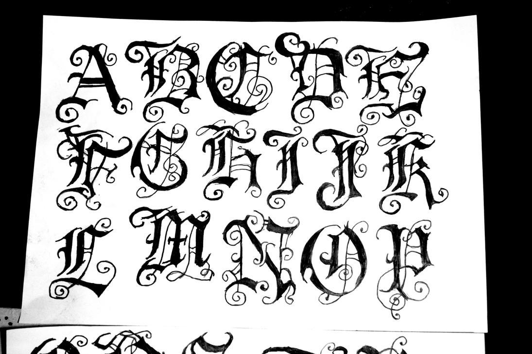Gothic Font4 By Ivanglas On Deviantart
