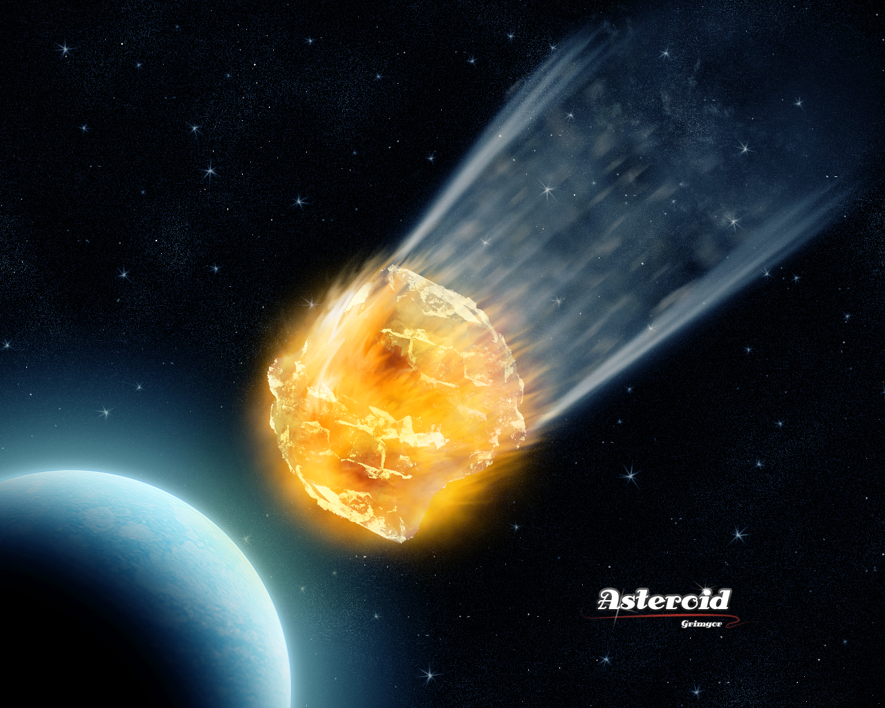 drawn picture of an asteroid - photo #49