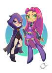 Raven and Starfire