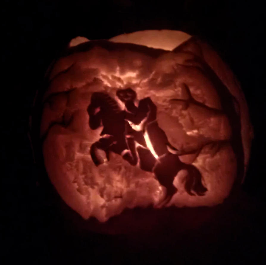Headless Horseman Pumpkin by Dani-the-Naiad