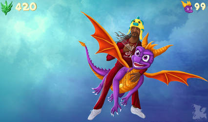 Spyro N Snoop Dogg Into the Dank Kush Flight by Svartya