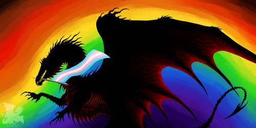 Black Dragon with a very colorful Pride