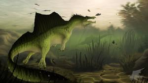 Swimming Spinosaurus