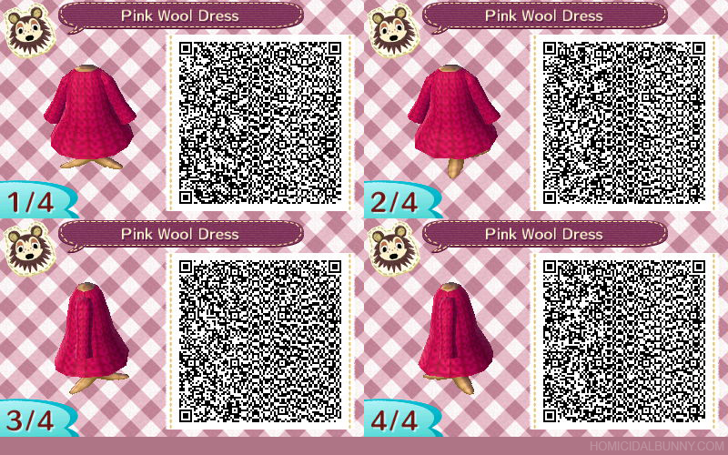 ACNL QR Code - Pink Wool Dress by TehZee