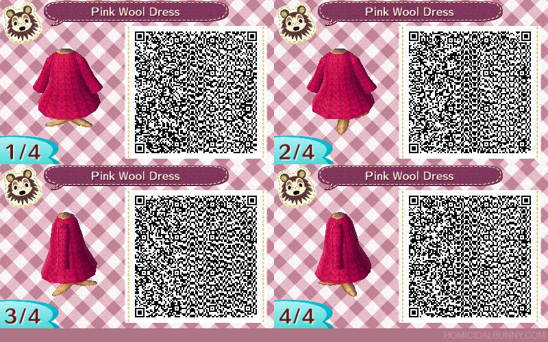 ACNL QR Code - Pink Wool Dress by TehZee