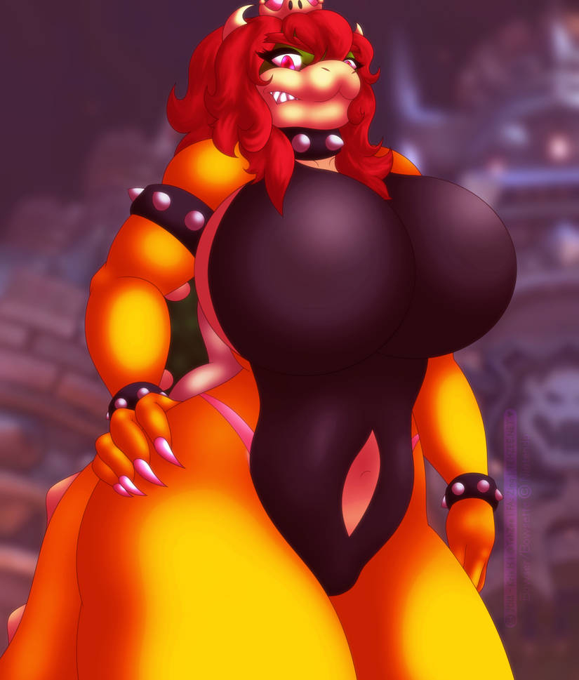 Beastly Bowsette - Bodysuit by TehZee