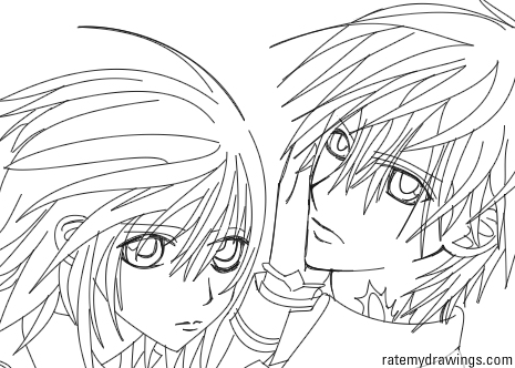 vampire knight coloring pages - vampire knight lineart by heartlessmonsturrxd on deviantart
