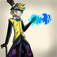 Bill Cipher (human) by KatieWolf55