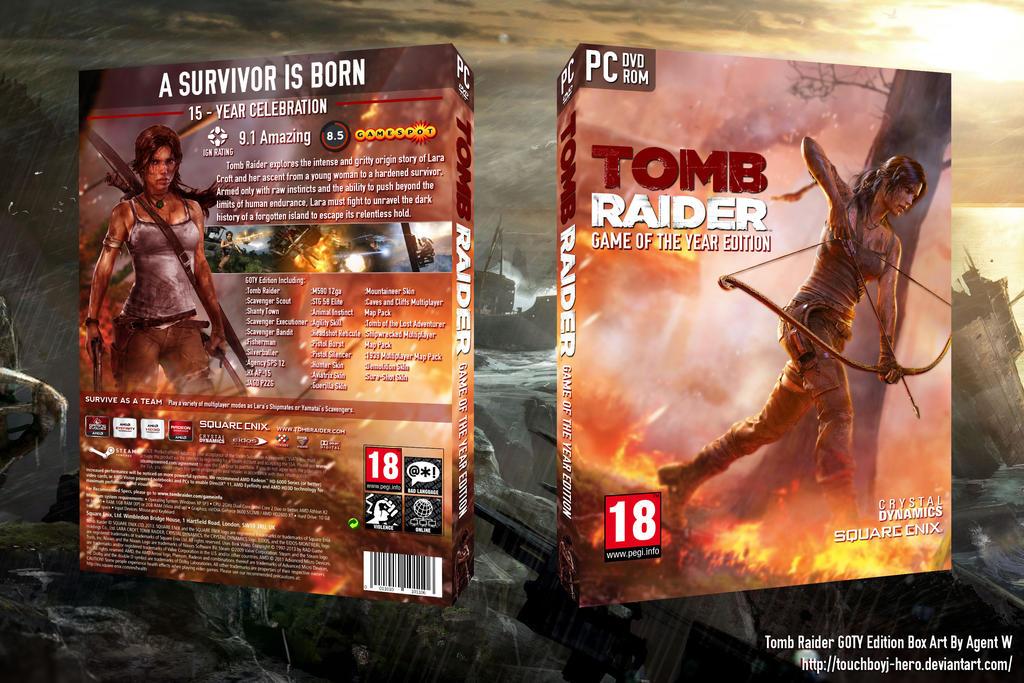tomb raider 2013 goty edition box art by touchboyjhero on