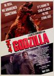 Godzilla 2014 Retro Style Poster