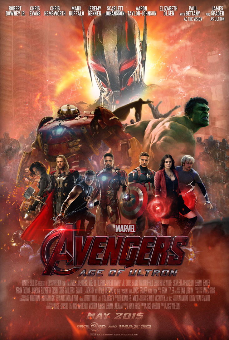 Avengers Age Of Ultron By Iloegbunam On Deviantart: Avengers: Age Of Ultron Poster By TouchboyJ-Hero On DeviantArt