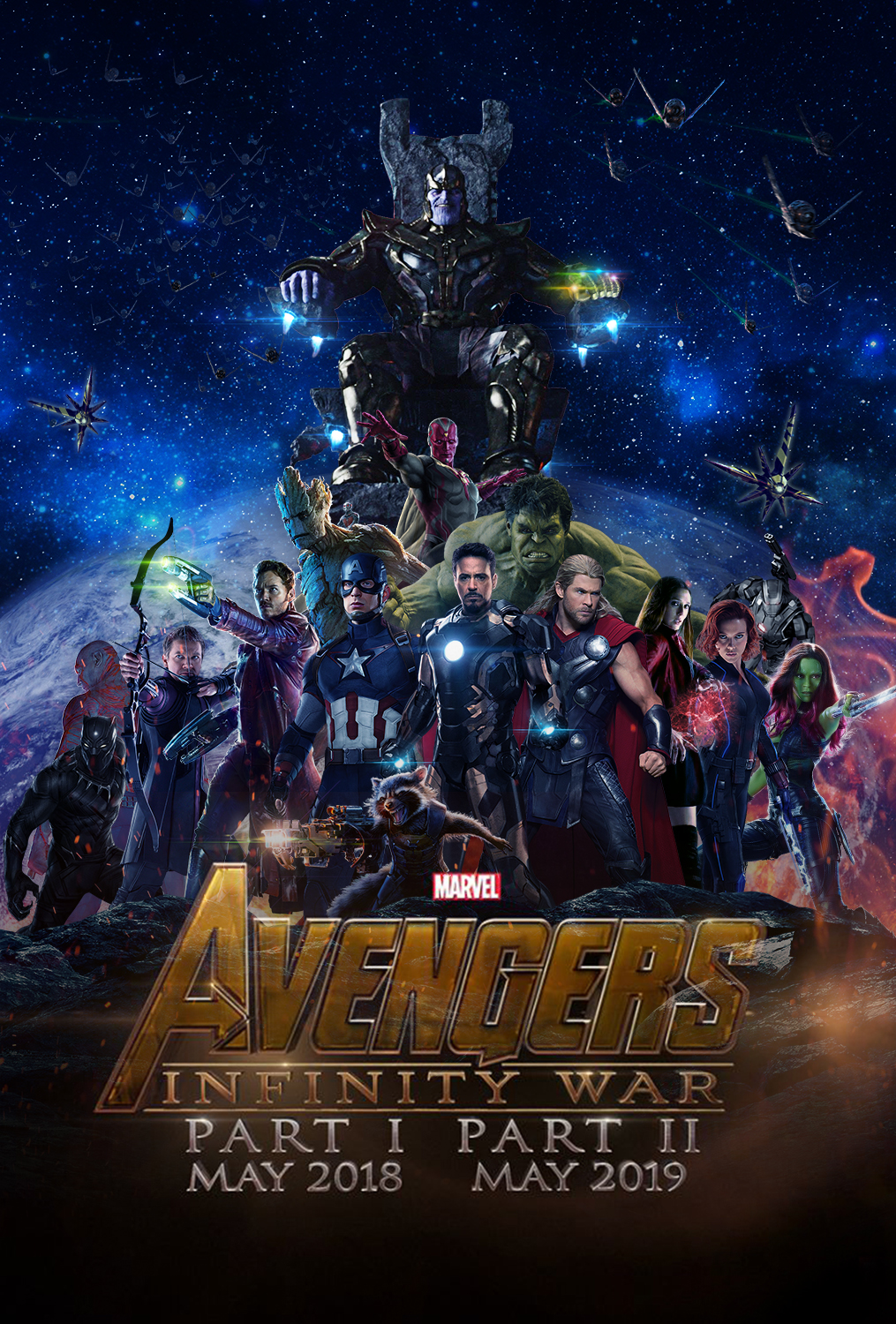 avengers infinity war part 1 and 2 banner poster by oakanshield on
