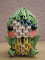 3D Origami - Kid in a Dinosaur Suit - 1 by Mixowelle