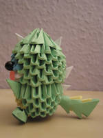 3D Origami - Kid in a Dinosaur Suit - 2 by Mixowelle