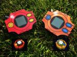 [Digimon] Sora and Tais Digivice - Papercraft