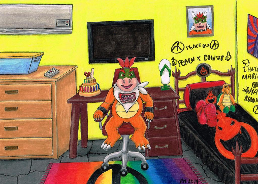 Bowser Jr In His Room By Nobrisagni On Deviantart