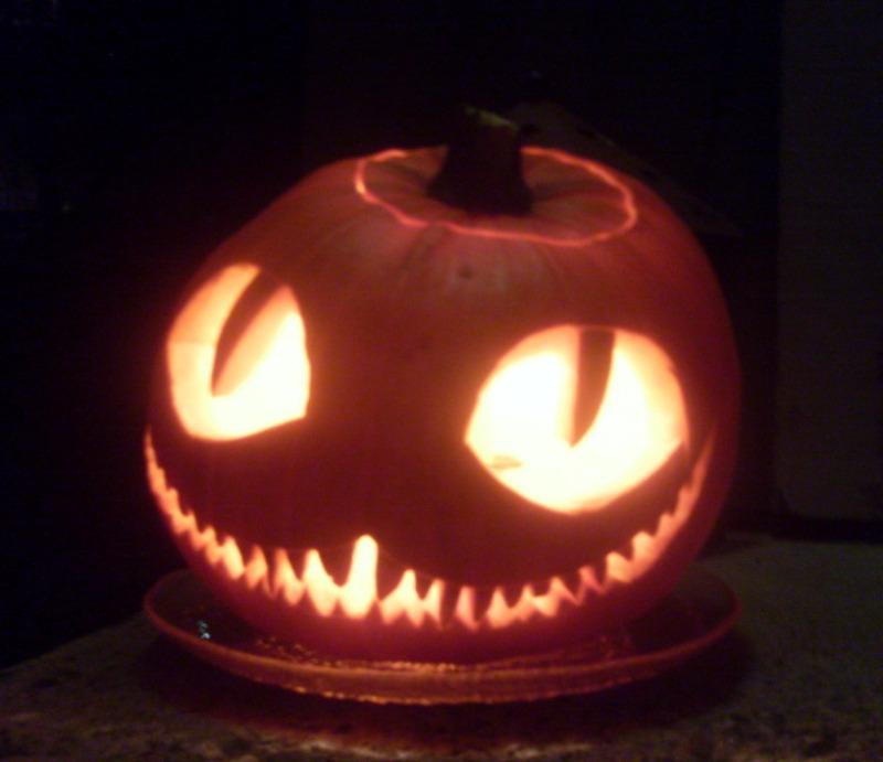 Cheshire cat -pumpkin by Niittylilja