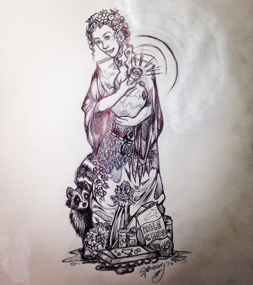 Dumpster Goddess Prayer Candle  by Meghabytes