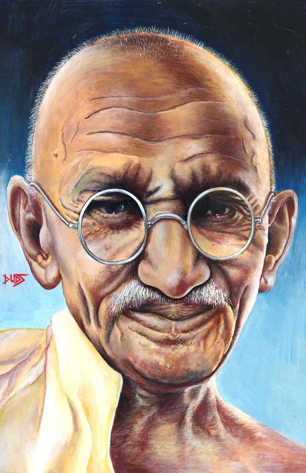 Gandhi by garygeorgec
